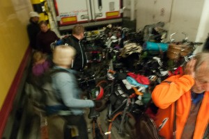 Cycle storage on the night ferry. Photo: Michael Hammel