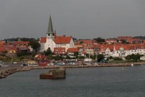Rønne, seen from the ferry. Photo: Michael Hammel