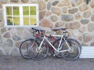 Two bikes, one inn. Photo: Jesper Pørksen