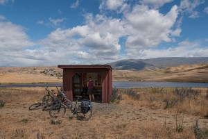 Information shed at lake Photo: Michael Hammel